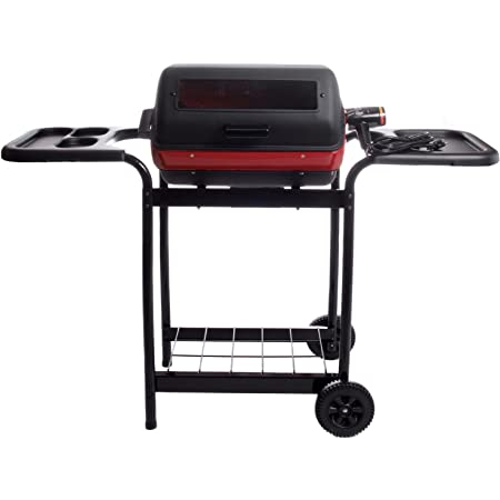 Americana Deluxe Electric Grill with Side Tables, 1500-watt