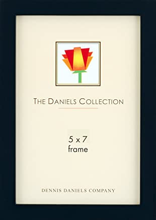 Dennis Daniels Gallery Woods Picture Frame, 5 x 7 Inches, Ebony Finish