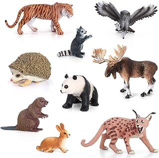 Volnau Animal Figurines Toys Set 9PCS Eurasia Animal Figures Zoo Pack for Toddlers Kids Christmas Birthday Gift Preschool ...