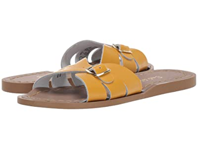 Salt Water Sandal by Hoy Shoes Classic Slide (Little Kid) (Mustard) Girls Shoes