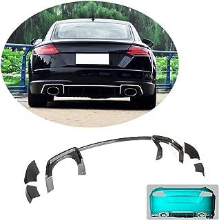 MCARCAR KIT Rear Diffuser fits Audi TT RS 2Door Coupe Convertible 2016-2018 Factory Outlet Carbon Fiber CF Lower Bumper Lip Spoiler Splitter Apron Flares Body Kit