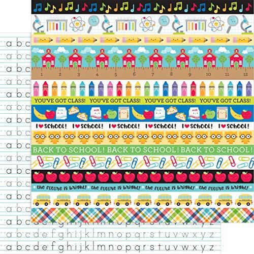 Doodlebug 6401 Schultags-Papier, 30,5 x 30,5 cm
