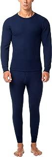 Men's Thermal Underwear Long John Set Waffle Knit Base Layer Top and Bottom M60