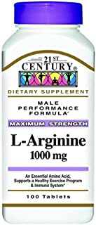 21st Century L-Arginine 1000mg, Maximum Strength 100 ea (Pack of 2)