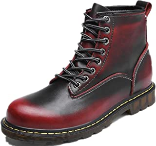 Jackdaine New Men's Fashion Casual Martin Boots Leather High Plus Velvet Boots