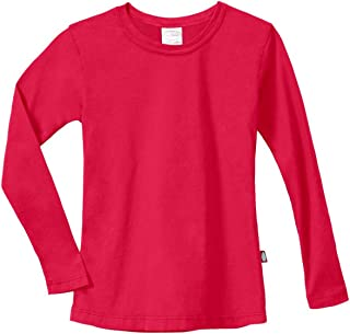 City Threads Girls' Cotton Long Sleeve Tee Tshirt for School and Lounging USA Made