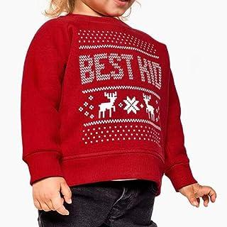 719c5327f8d53 SANFASHION Famille Assortiment Homme Femme Bébé Wapiti De Noël Pyjamas  Manche Longue Vêtement De Nuit Top
