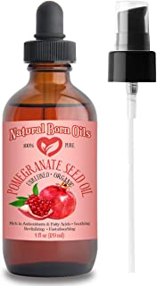SALE! 4oz Pomegranate Seed Oil, 100% Pure and Natural, Organic and Rich in Antioxidants for Supple, Soft Skin and Hair - I...