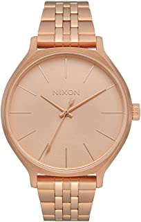 Nixon Clique Women's Fashion-Forward Jewelry-Style Watch (38mm. Stainless Steel Band)