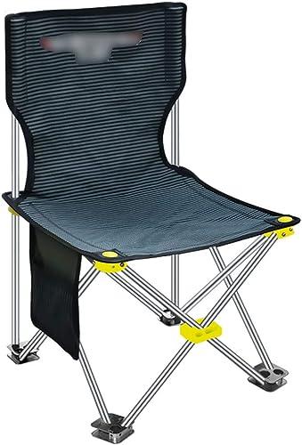 RenShiMinShop Chaise de pêche Tabouret De Pêche Multifonctionnel Léger Voyage Chaise De Pêche Pliable portable en Plein Air Pêche Tabouret (Couleur   noir, Taille   56  35cm)