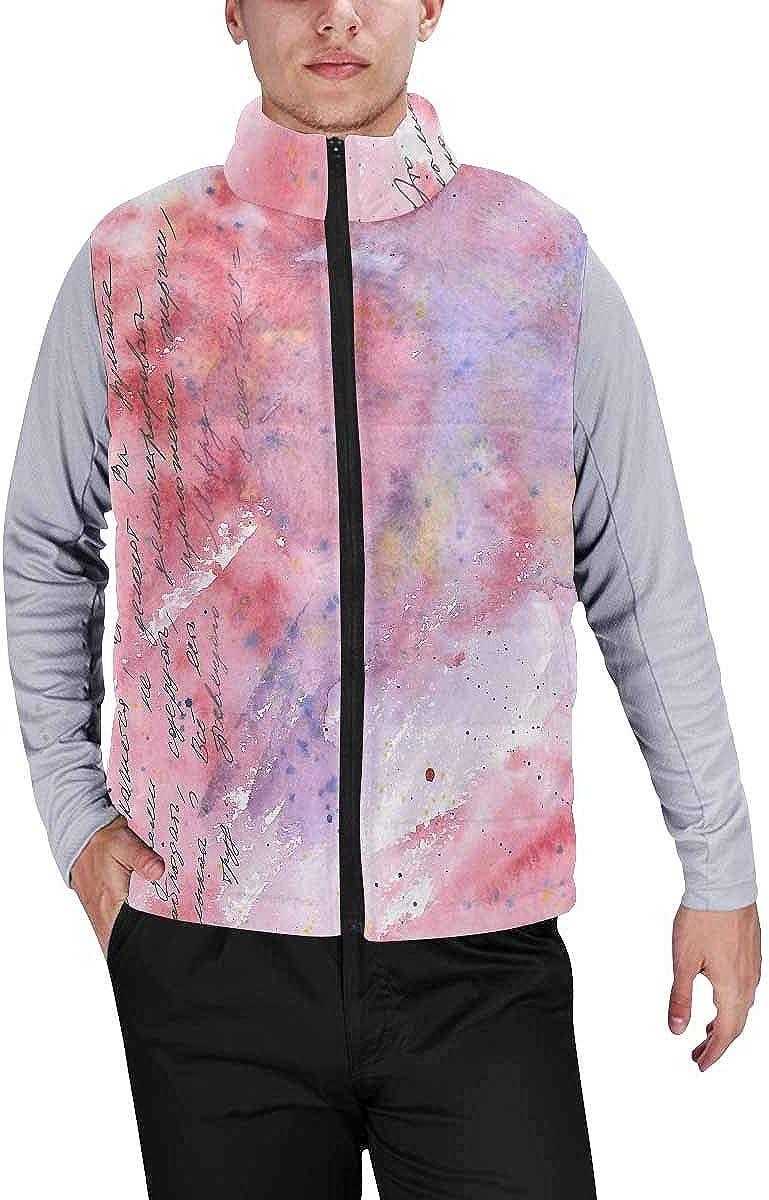InterestPrint Warm Outdoor Sleeveless Stand Collar Vest for Men Skeleton