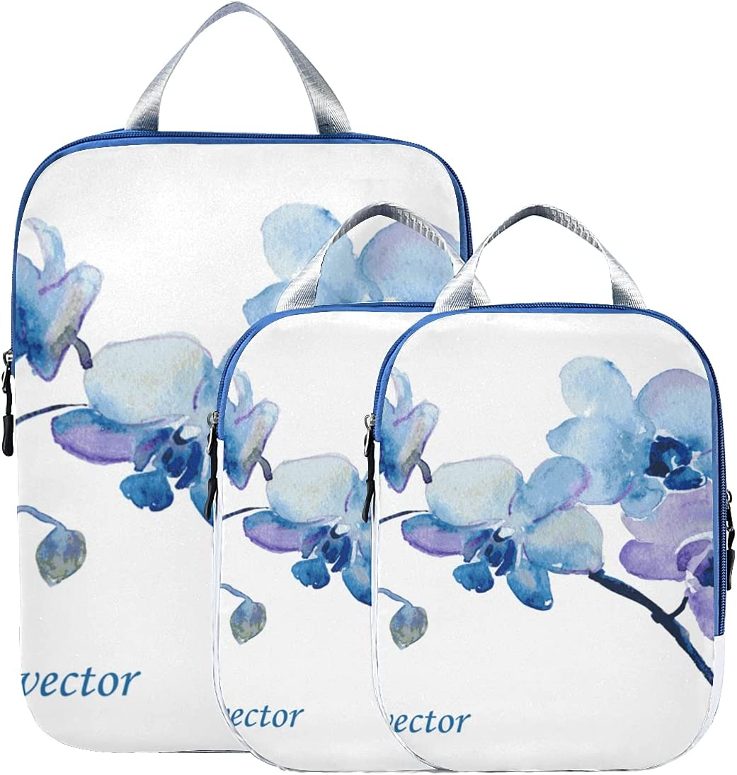 Organizer Bag depot Flowers Pink Orchid Watercolor Packing S For Cubes Very popular!