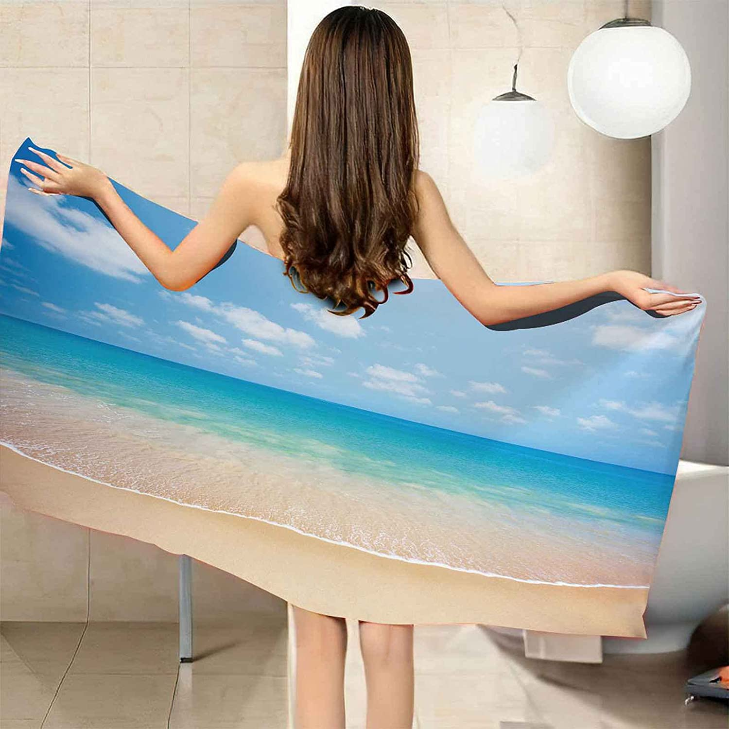 TFXDBZ Beach Towels Weekly update for Adults Sand Towel Free Year-end annual account Microfiber