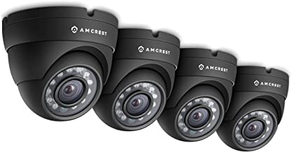 Amcrest Eco-Series 720P HD Security Cameras, Weatherproof IP66 Dome Cameras, 65ft IR LED Night Vision (4-Pack) …
