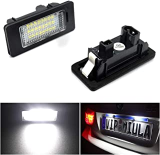 Gempro Number Plate Light 2 x LED Rear License Number Plate Lights with CAN-bus Error Free Waterproof Heat Dissipation Black Aluminium For O-pel V-auxhall Zafira B Corsa C Astra H Cascada Meriva A//B
