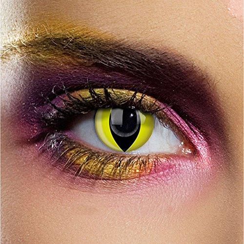Lenti a contatto Funky Vision, 3 mesi, Yellow Cat, senza gradazione, 1 pezzo