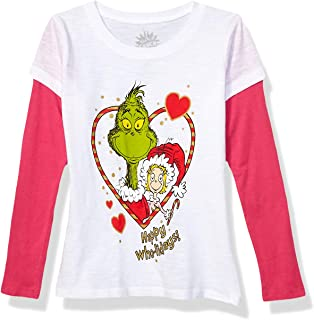 Kids' Big Girls' Ugly Christmas Long Sleeve Two-fer T-Shirt