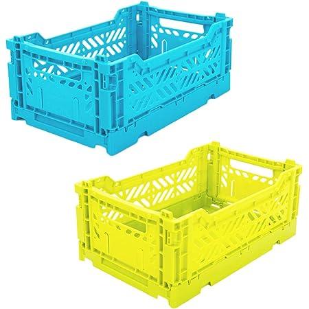 Boîte de Rangement Pliante en Plastique, Conteneurs de Placard de Panier de Caisse Pliable, Organisateur Pliable pour Bureau à Domicile, Chambre à Coucher, Tiroir de Cuisine pour Vêtements