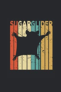 """Sugar Glider: Sugar Gliders Notebook, Blank Lined (6"""" x 9"""" - 120 pages) ~ Animal Themed Notebook for Daily Journal, Diary,..."""