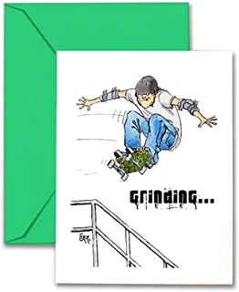 Play Strong Skateboarding Birthday Card (5x7) Skateboarding Birthday Greeting Cards - Totally Awesome for Skateboard Fanatics! #AllProfitsToHelpKids