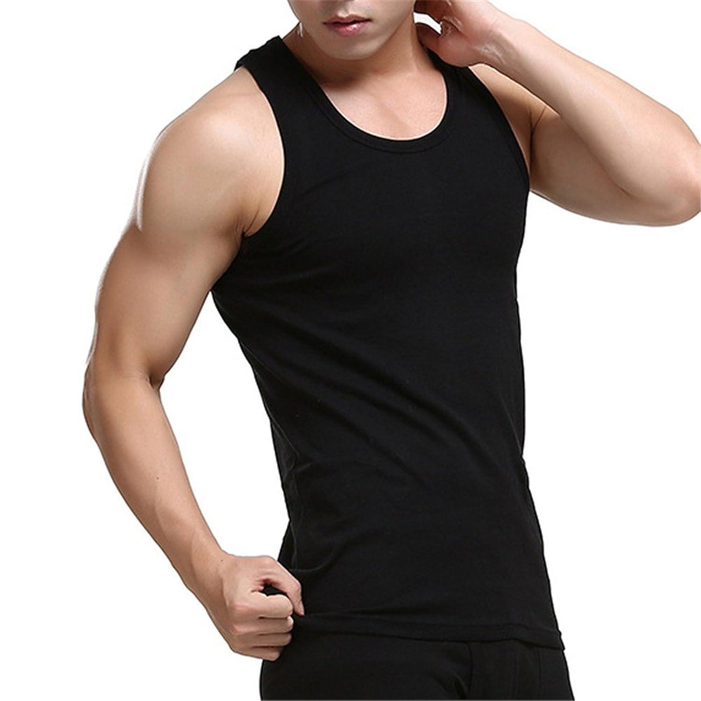BESTLEE tシャツ 無地 ノースリーブ メンズ 丸首 無袖 コットン 吸汗速乾 夏