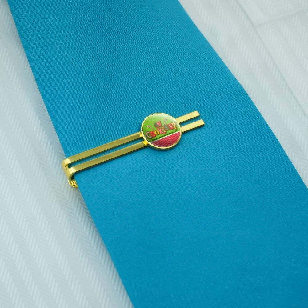 GRAPHICS & MORE Christmas Holiday Got Cookies Come Back When You Do Round Tie Bar Clip Clasp Tack Gold Color Plated