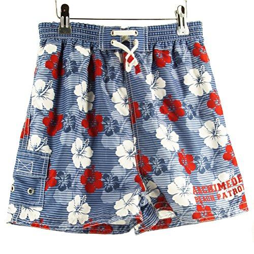 Archimede Hawaii Rouge Boxer Kinder Badeshorts 12Y Striped Blue
