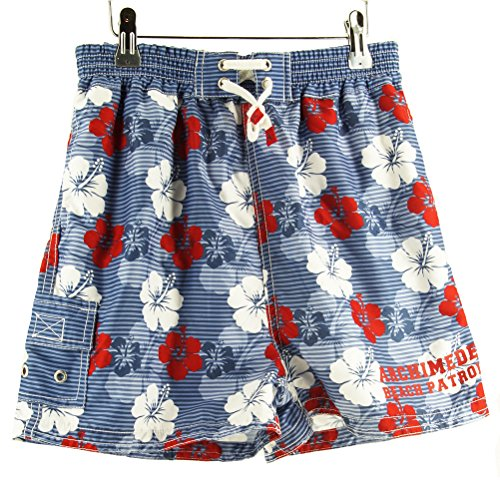 Archimede Hawaii Rouge Boxer Kinder Badeshorts 10Y Striped Blue