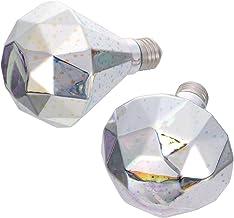 FRCOLOR 2pcs Lamp Bulb 3D Diamond Shape Lamp Bulb Creative Fireworks Light Bulb Decorative Glass LED Lamp Vintage Romantic...