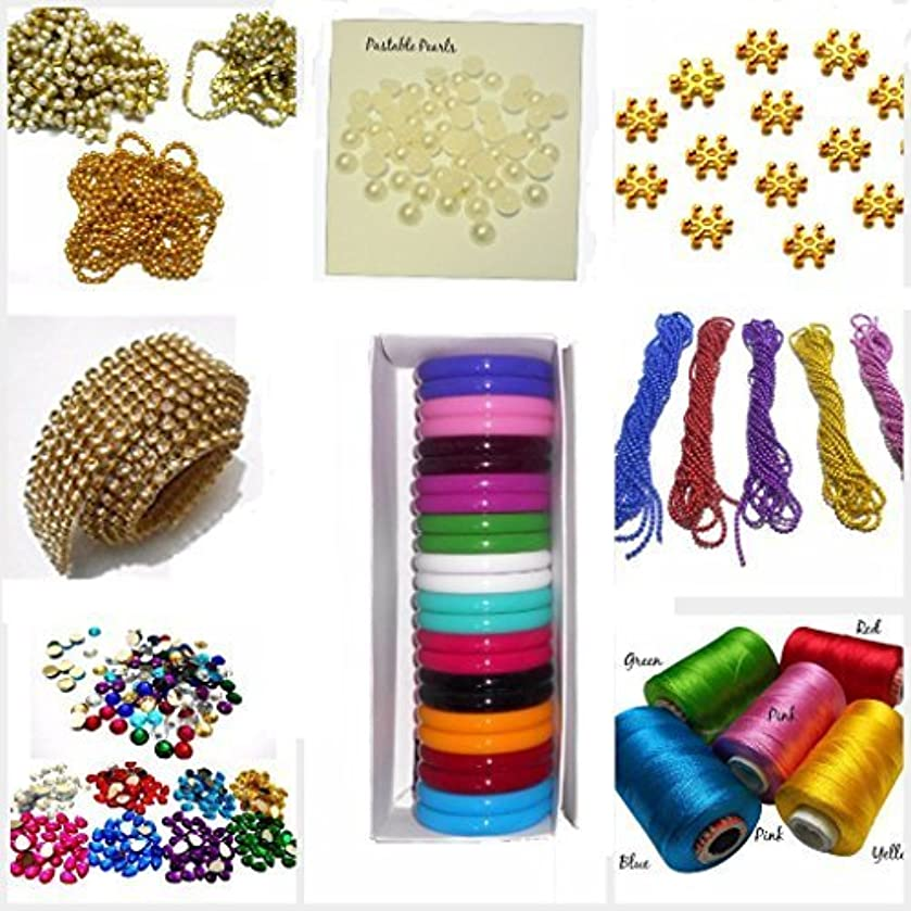 GOELX Silk Thread Bangle Making Designing Kit With All Materials & Multiple Accessories- With Kada Bangles In Size 2.6