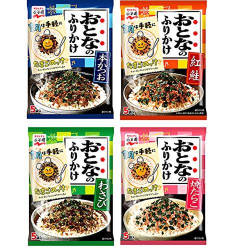 【まとめ買い】永谷園 おとなのふりかけ お試し4種 本かつお 紅鮭 わさび 焼たらこ 合計4袋 (1セット)