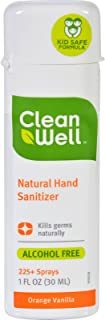 Cleanwell CLW-59772P4 Hand Sanitizer Spray , Orange Vanilla, 1 oz. This multi-pack contains 4.