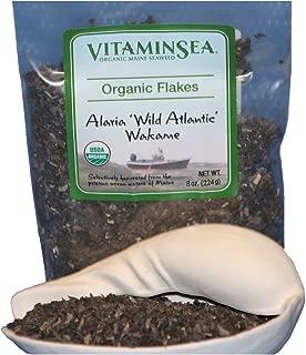 VITAMINSEA Organic Wakame Flakes Seaweed - 8 oz / 226 G Maine Coast Sea Vegetables - USDA & Vegan Certified - Kosher - Perfect for Keto or Paleo Diets - Atlantic Ocean - Sun Dried - Raw - Wild (WF8)