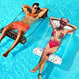 Water Hammock Inflatable Pool Float,2-Pack Multi-Purpose Portable Hammock(Saddle, Lounge Chair, Hammock, Drifter),Pool Lounger,Swimming Pool Float Gift for 8 9 10 11 12 Year Old Boys Girls Kids Adults