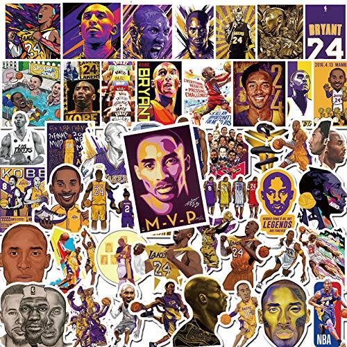 YCYY 50 Pegatinas de la NBA Kobe con Personalidad para teléfono móvil, Taza de Agua, Caja de Palanca para portátil, Decorada a Prueba de Agua, Pegatinas de Graffiti