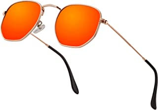 63d1a885af Hipster Hexagonal Polarized Sunglasses Men Women Geometric Square Small  Vintage Metal Frame Retro Shade Glasses