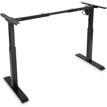 Electric Stand up Desk Frame - FEZIBO Single Motor Height Adjustable Sit Stand Standing Desk Base Workstation Black (Frame Only)