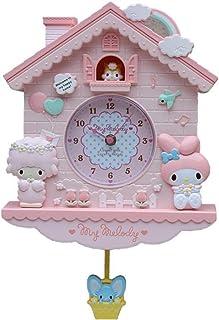 ノベルティ12インチ漫画ハローキティ私のメロディスイングキッズウォールクロッククォーツハウスWCLT寝室liveroom (Color : Pink)
