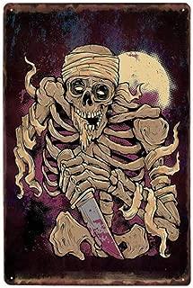 Pintura Hierro Lámina Póster Pared Decoración Cráneo Cartel De Metal Pintura De Hierro Carteles De Chapa Tatuaje Salones Tienda Decoración Fiesta Vintage Placas De Pared 20 X 30 Cm