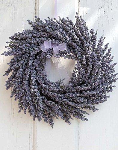 PLANT&STYLE Künstlicher Lavendelkranz, Ø 28cm
