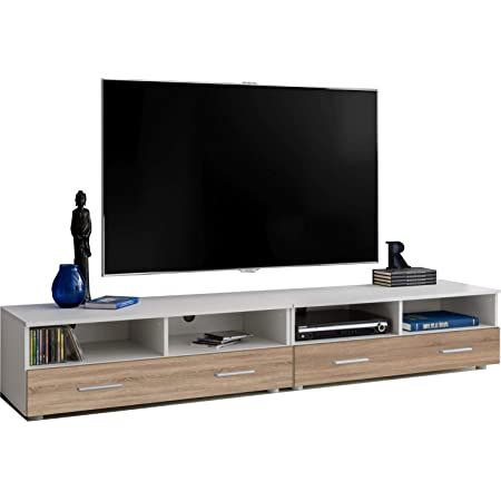 Avf Plaza Flat Tv Stand For Up To 85 Inch Walnut Amazon Co Uk Electronics