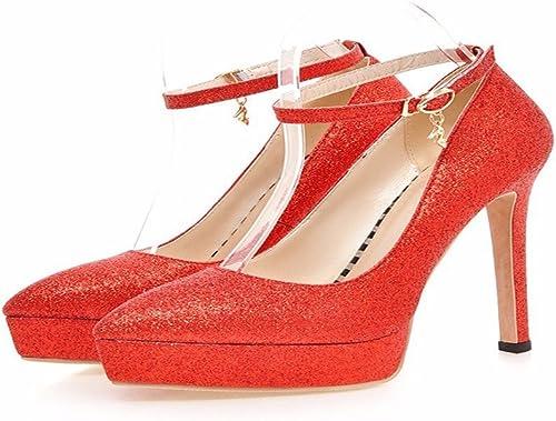 HBDLH Chaussures pour Femmes Seul Seul Nip Seul Les Chaussures Pointues 13Cm des Chaussures à Talons Hauts Chaussures Chaussures étanches Nuptial.  bonne réputation