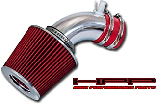 High Performance Parts Short Ram Air Intake Kit & Red Filter Combo Compatible for 2010-2012 Hyundai Genesis 2.0 Turbo Coupe