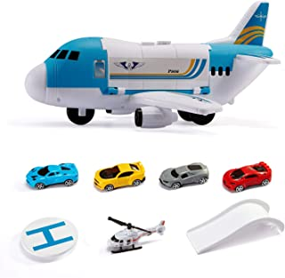 YEELEAD Transport Cargo Airplane Car Toy Play Set for 3+ Years Old Boys and Girls,Gift for Kids