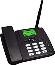 $48 » DSJGVN Wireless Desktop Telephone - GSM Home Telephone in Black - Desktop Style Phone with SIM Card Slot, Caller ID, Redia...