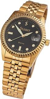 Stauer Men's Swiss Noire Bienne Gold Finsihed Watch