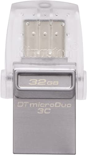 discount Kingston Digital 32GB Data Traveler Micro popular Duo USB high quality 3C Flash Drive (DTDUO3C/32GB) online sale