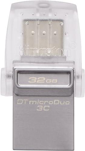 Kingston DataTraveler MicroDuo 3C 32GB Flash Drive (Gray)