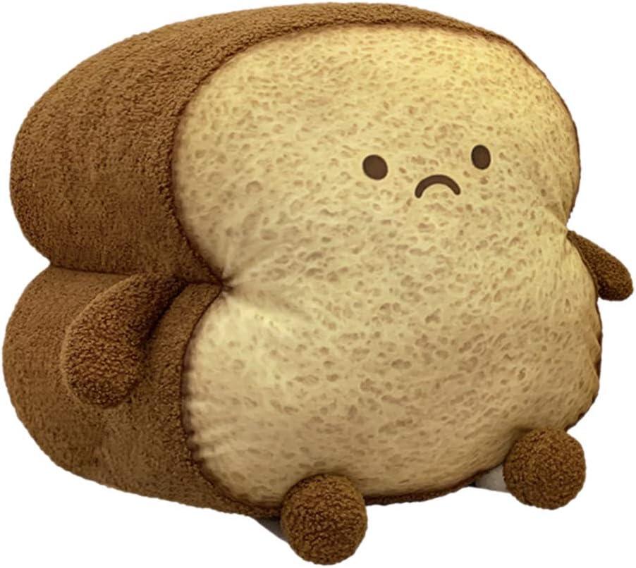 DENTRUN It is very popular Toast Sliced Bread Plush Pillow Shape OFFicial shop Facia