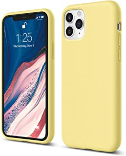 elago iPhone 11 Pro Silicone Case |Color| - Premium Liquid Silicone, Raised Lip (Screen & Camera Protection), 3 Layer Structure, Full Body Protection, Flexible Bottom Yellow ES11SC58-YE